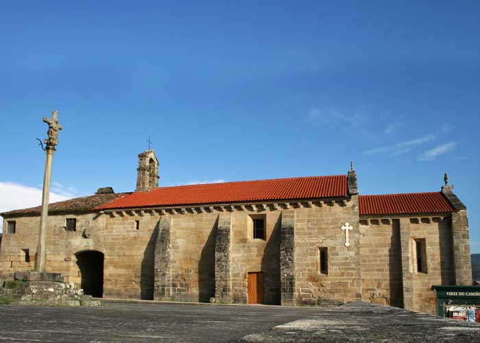 Sanctuary of the Virgen del Camino (Virgin of The Way); Gothic Christ and votive offerings.